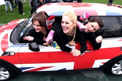 28 women managed to pile into the Mini to break the world record