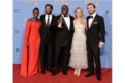 British actor Chiwetel Ejiofor and the 12 Years a Slave cast