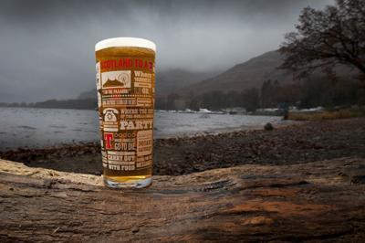 The new pint glass features 36 phrases which capture Scotland to a T