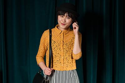 Kiki Tsui at the Harris Tweed Fashion Show at Hillhead Book Club