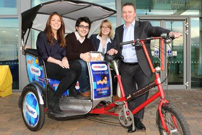 Team Penguin provided a pedicab service for students during Fresher's Week at St Andrews University