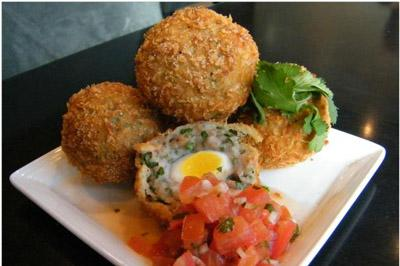 Spicy Scotch eggs
