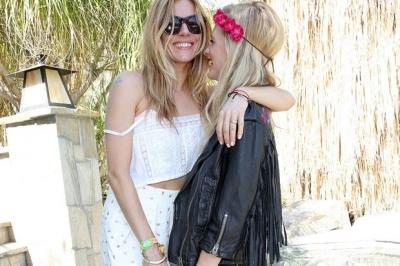 Sienna Miller and Poppy Delevingne at Coachella
