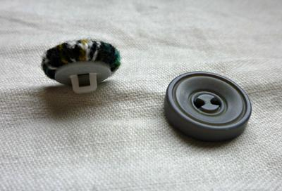 Sewing on a button - step by step