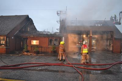 Around 40 firefighters tackled the station blaze. Video courtesy of Danny Boyle.