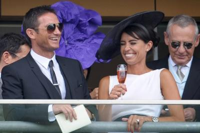 Christine Bleakley joins Frank Lampard on the Ascot balcony