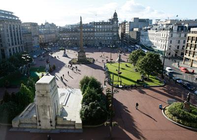 A panoramic view of the square from the City Chambers
