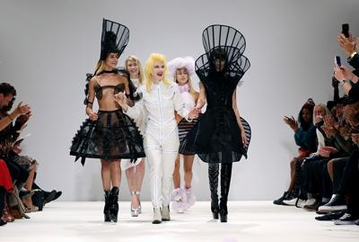 Pam Hogg took to the stage for her spring/summer 2013 fashion show in the Freemasons' Hall, London
