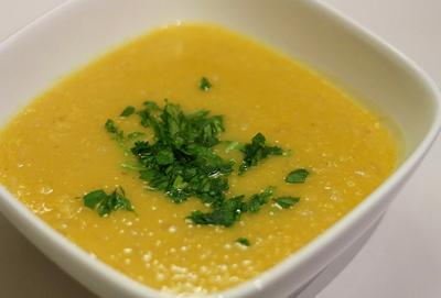 A bowl of lentil soup is the perfect winter warmer