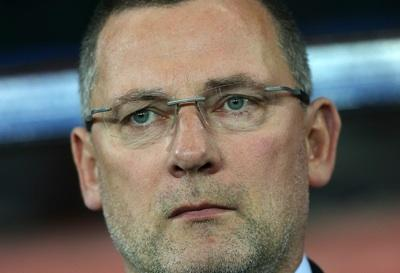 A pensive Craig Levein on the touchline in Cardiff