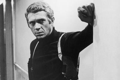 Steve McQueen looking quintessentially cool in Bullitt