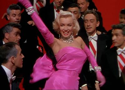 Marilyn Monroe's famous pink dress in Gentlemen Prefer Blondes
