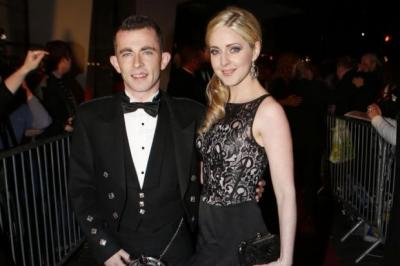 Paul Brannigan with his co-star Siobhan Reilly