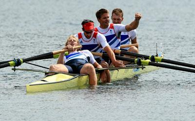 The triumphant Team GB four